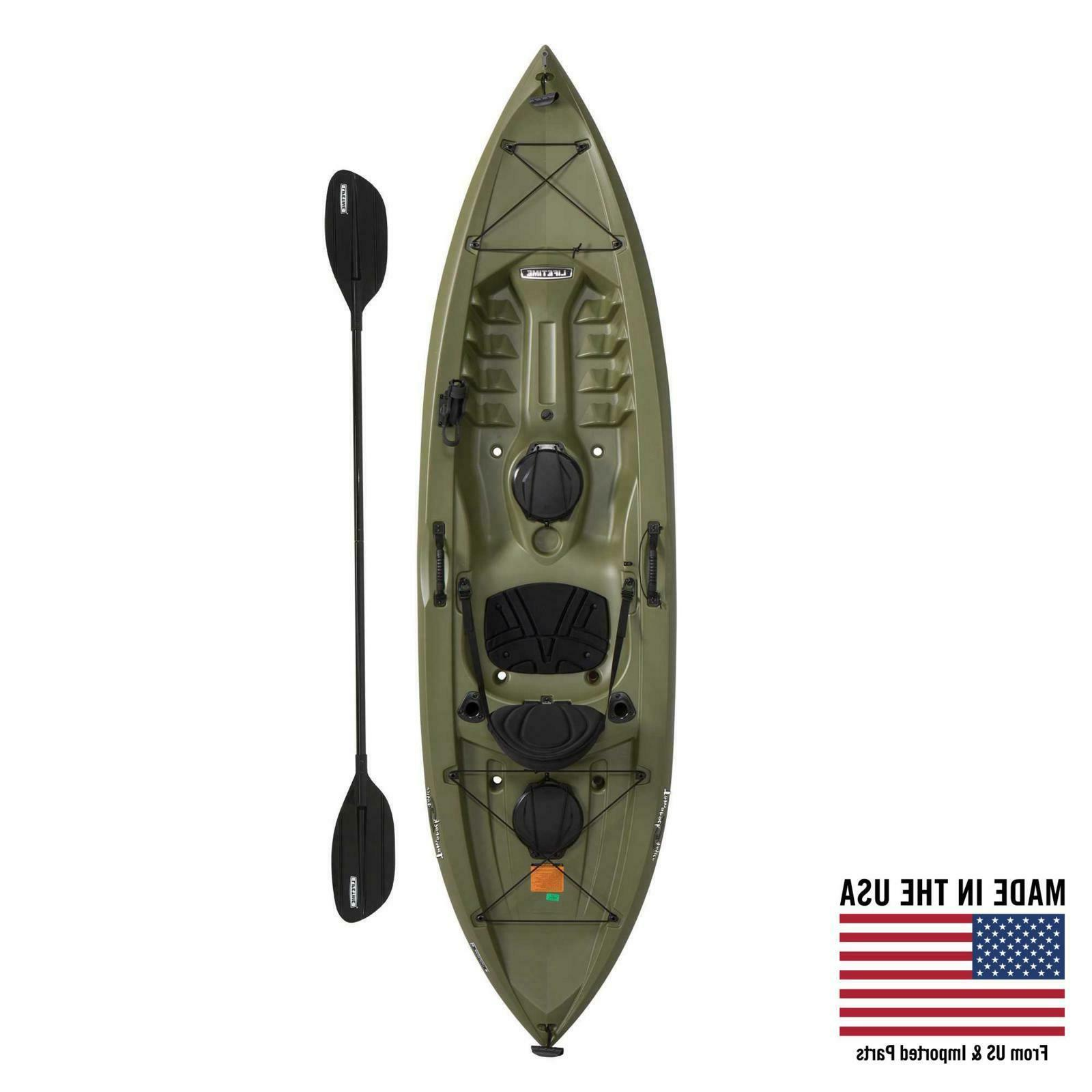tamarack angler 100 fishing kayak with paddle