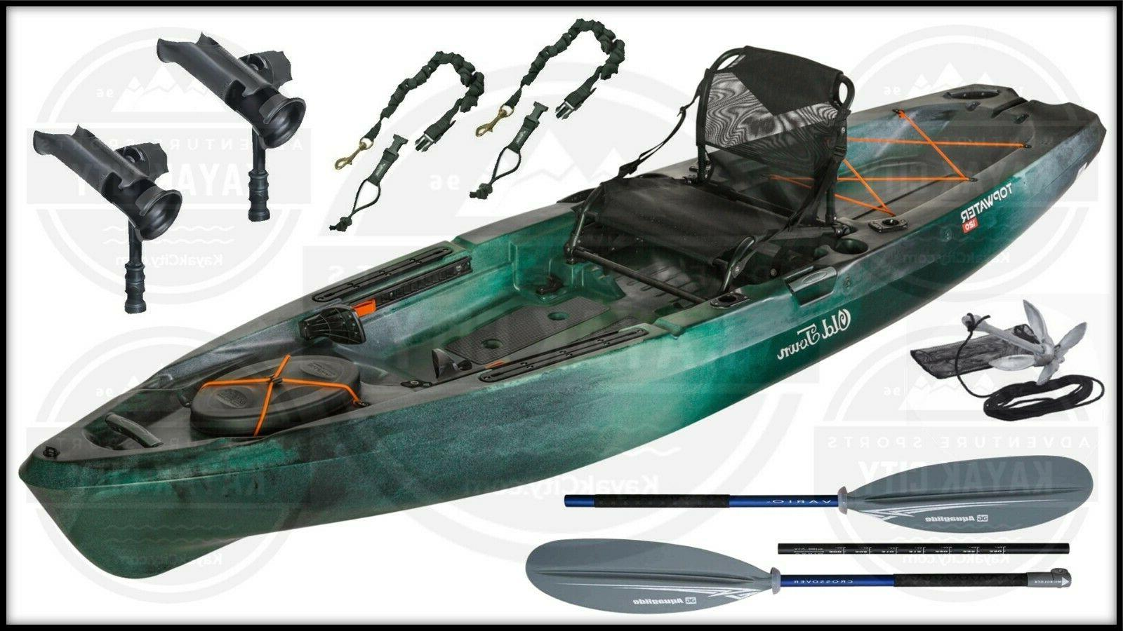 topwater 120 fishing kayak fishing package multiple