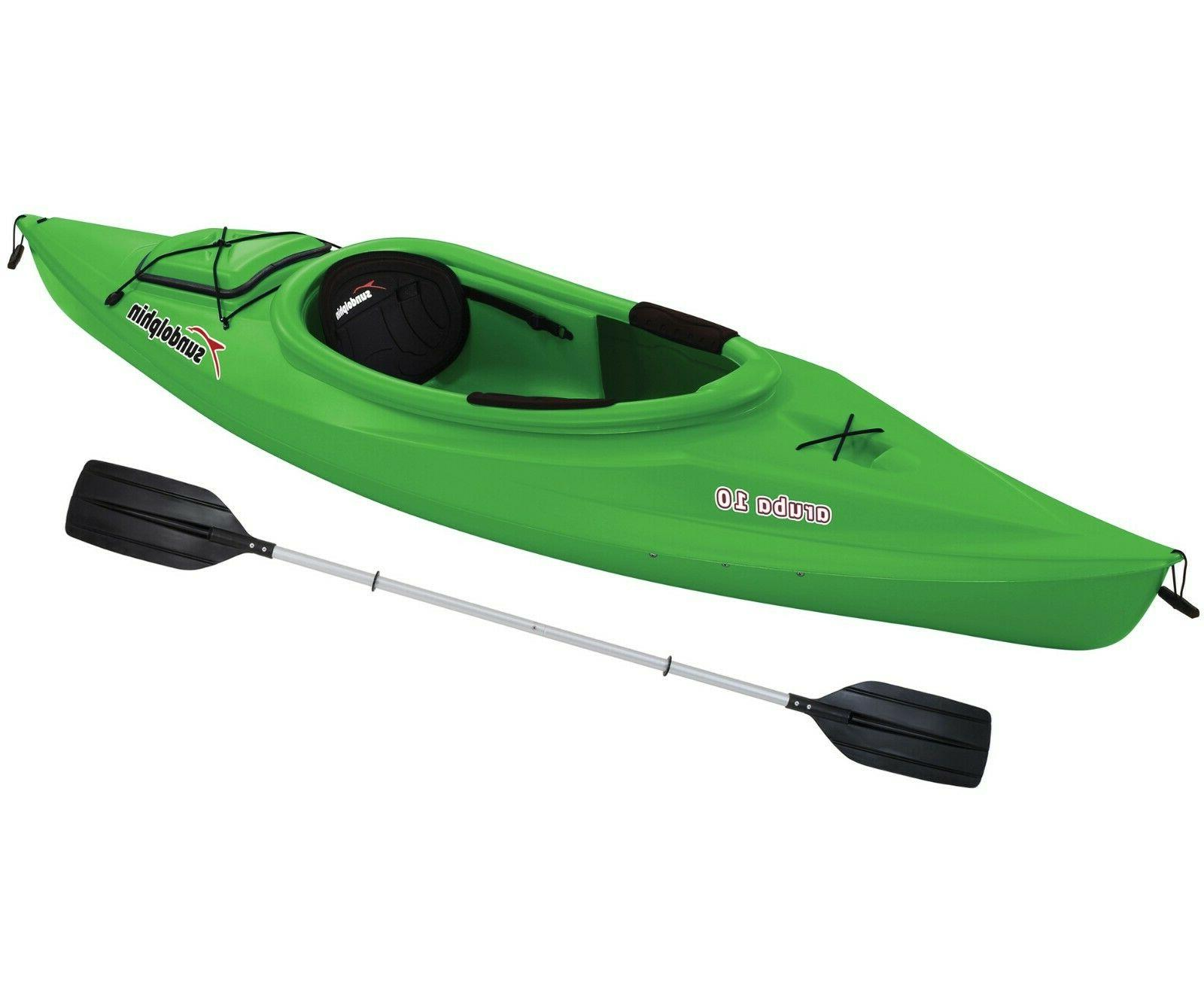10' Sit In Outdoor Water Boat Paddle Dolphin