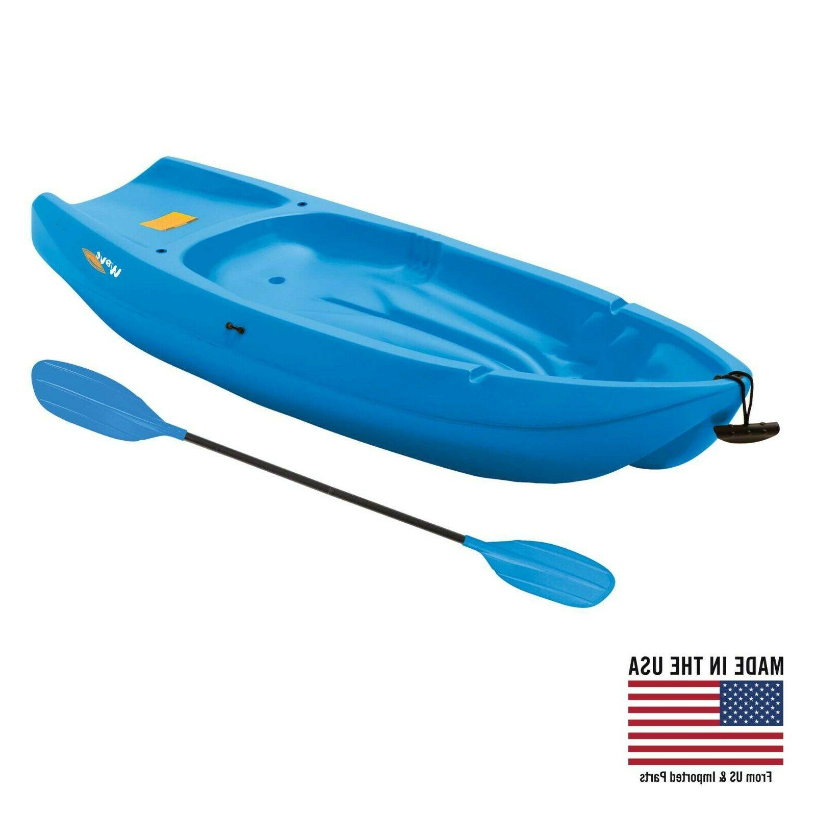 youth sit on top kayak with paddle