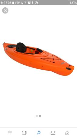 Lifetime Lancer 100 sit in kayak with paddle fixed foot rest
