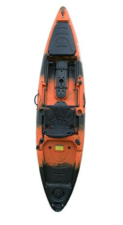 Nirvana Naidu 12' fishing kayak Orange/Black