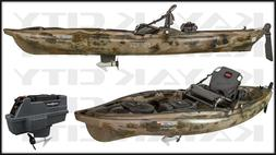predator mk motorized kayak brown camo closeout