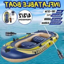 PVC 2/3/4 Person Fishing Swimming Water Sports Inflatable Bo