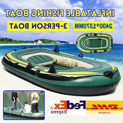 pvc inflatable 3 person boat fishing boat