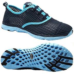 ALEADER Women's Quick Drying Aqua Water Shoes Blue 7 D US/FR