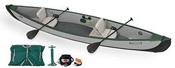 Sea Eagle TC16 Inflatable Travel Canoe Electric Pump Package