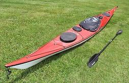 Valley Etain 17.5 ocean touring kayak with paddle and car mo