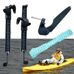 Watercraft Kayak Canoe Boat Rubber with Foot Braces Pedal Pe