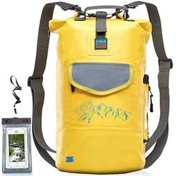 Luck route Waterproof Dry Bag with Backpack Straps and Pocke