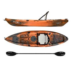 Vibe Yellowfin 100 10' Fishing Kayak+Paddle - Wildfire