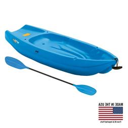 Youth Sit on Top Kayak with Paddle Blue Fishing Sport Lake S